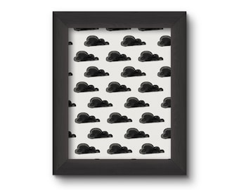 Little Black Clouds Print