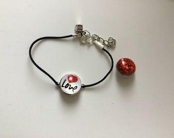 Chunk button interchangeable bracelet