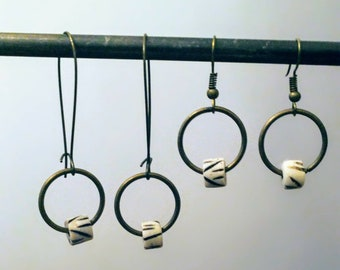 Ox Bone Earrings