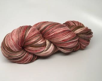 Wool, Silk Hand dyed worsted weight