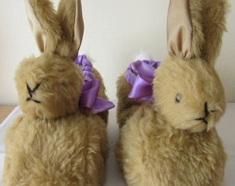 Brown Rabbit Slippers Made to Measure Gifts for Him or Her Made to Order Gift for Girl Friend Mum's Day Present Fun Fun Fathers' Day Present