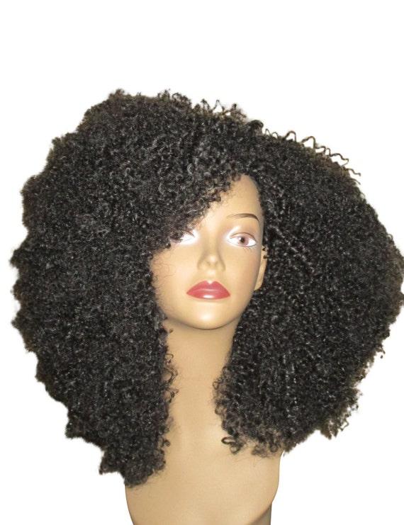 Essence Wigs Amazing Black Natural Hair VA VA Voom Afro kinky Curly Wig Unit 4b 4c
