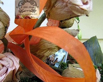 Rayon Seam Binding Ribbon Orange