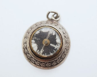Vintage Sterling Compass Charm
