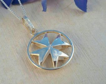 Maltese Cross Necklace,Malta Cross Pendant, Malta Cross, Malta Gift, Maltese Cross Pendant, Silver Maltese Cross, Croce di Malta