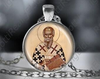 St. Polycarp Necklace - Catholic Christian Medal Pendant Patron Religious Jewelry