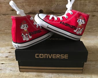 Paw patrol Marshall Shoes - personalized chuck taylors - customized converse - personalized - Birthday swag