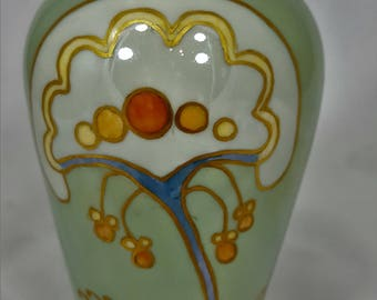 Art Deco Vase - Artist Signed- Made in Czechoslovakia