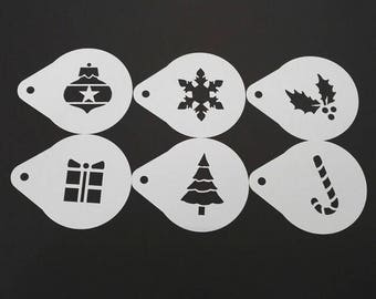 Bakell™ 2.75 x 2.75 Set Of Christmas Present Stencils - Decorating and Crafting Stencils from Bakell