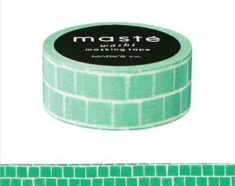 Green Block  maste Japanese Washi Tape Masking Tape  (MST-MKT196-GN) Price depends on order volume.