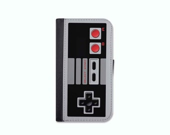 Nintendo Controller Inspired Wallet Case For The iPhone 5/5s, 5c, 6/6s, 6/6s Plus, 7, 7 Plus, 8 or 8 Plus.