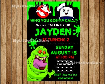 Ghostbusters Party Invitation, Ghostbusters Birthday Invitation, Ghostbusters printable Invitation Digital file