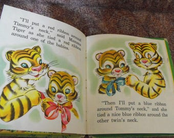 Tommy And Timmy Whitman Fuzzy Wuzzy Book 1950s