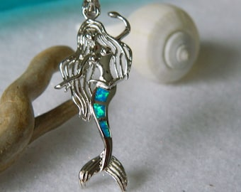 Fire Opal Mermaid Beach Gypsy Necklace