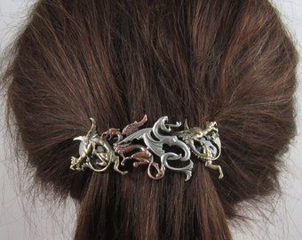 DRAGONS FRENCH BARRETTE 80mm- Dragon- Game of Thrones- Hair Clips- Hair Accessories