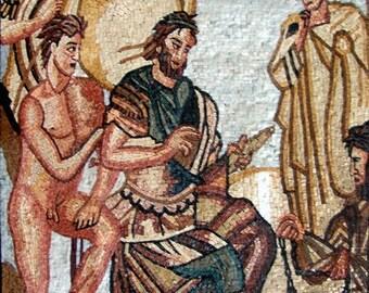 Mosaic Art Reproduction Union of Roman Gods