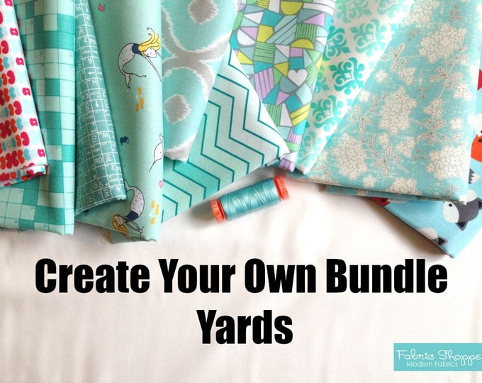Create Your Own Custom Fabric Shoppe Fabric Bundle- Yard Bundle, You Choose The Amount. Free Shipping Available