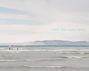 Wish You Were Here -Bear Lake Utah postcard