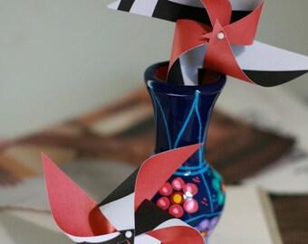 Wedding decoration - 12 Mini Pinwheels Zebra's are Coming Wedding favor