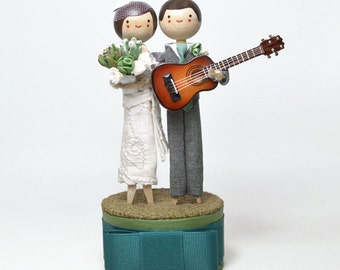 Custom Made Cake Topper with 1x INSTRUMENT / Music Theme
