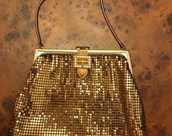 Gorgeous gold sequin little evening purse