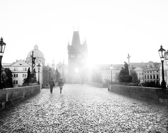 "Prague Photography, Charles Bridge, ""Sunrise"""