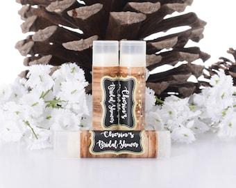 Vintage Wedding Favors - 30 Lip Balm-Chapstick Stickers and Lip Balm Tubes - Bridal Shower Favors - Wedding Lip Balms
