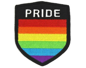 Pride Patch, Gay Patch, Rainbow Patch, Pride Parade Accessory, Lgbtq Decoration, Gay Flag, LGBT community, LGBT Flag Patch, Gay Support