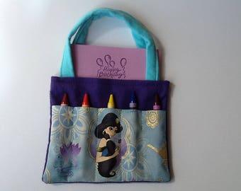 Jasmine Children's Crayon Bag and Customized Paper, Birthday Party Favor