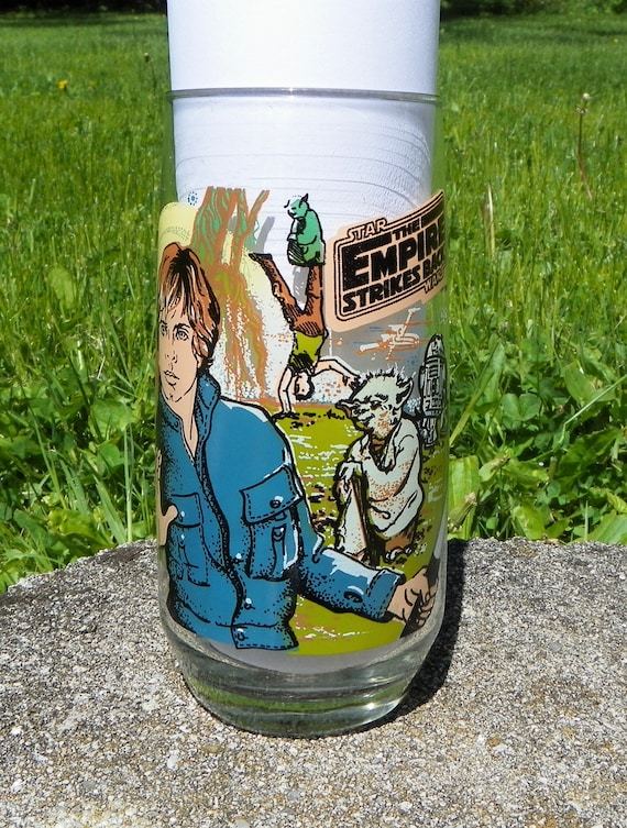 Vintage 1980 The Empire Strikes Back Star Wars Luke Skywalker Tumbler Drinking Glass Burger King by Etsy