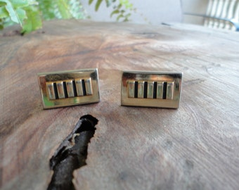 Gold Tone Textured Cuff Links