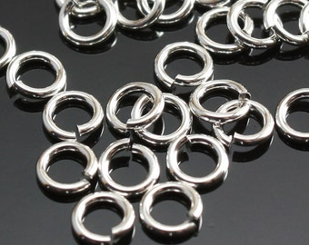 Sterling Silver Jump Rings 4mm 20 gauge Open Rings - Select Pack Size