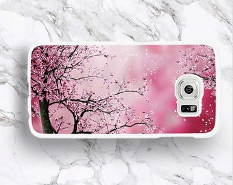 Galaxy S8+ Japan Sakura Blossom Phone Case,for Samsung S8 Plus S7 Edge Pink Flower Floral Japanese Art Spring Nature S6 Active S5 Mini Cover