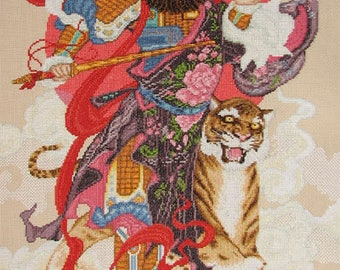 New Finished Completed Cross Stitch - God of Wealth - C69k