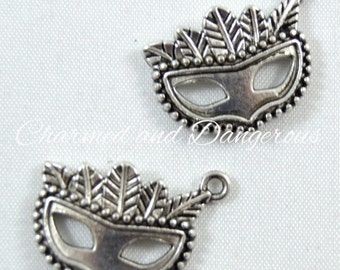 10 pewter Masquerade Mask charms (CM106)