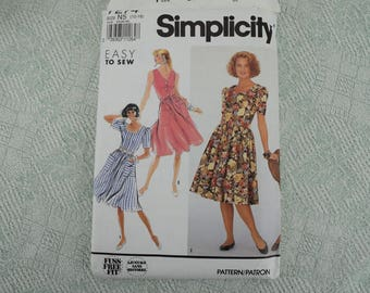 Simplicity Sewing Pattern 7274 dress from 1991 size 10 12 14 16 18