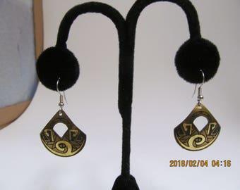 Handcrafted brass earrings