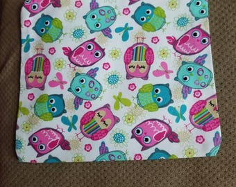Pink & teal Owl Pouch mini