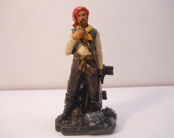 Pirate with Sword Figurine Statue Vintage