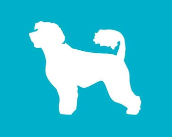 Portuguese Water Dog Car Decal | Dog Breed Sticker | Dog Silhouette | Laptops | Tumblers | Boats | Trucks | PWD Mom & Dad | I Love My PWD