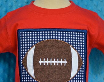 Personalized Football Patch Applique Shirt or bodysuit