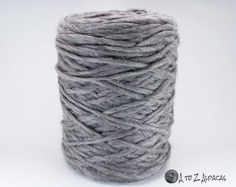 Pencil Roving - Gray - Royal Baby Alpaca - Made in Canada