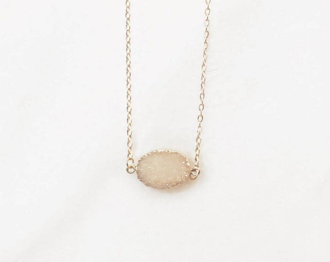 Druzy Necklace, rose gold Druzy necklace, Druze jewelry, bridesmaid necklace, bridesmaid gift, geode necklace