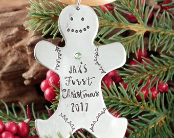 Personalized Christmas Ornament, Baby's First Christmas Ornament, Gingerbread Ornament, New Baby Ornament, Christmas Gift for New Mom