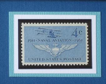 Naval Aviation - Vintage Framed Postage Stamp - No. 1185
