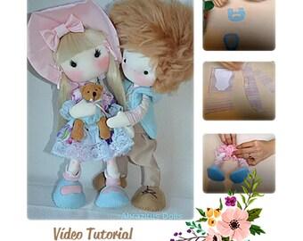 """Pattern dolls Leo and Joana 13""""."""