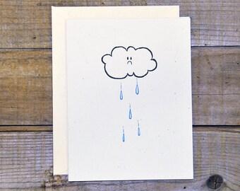 C-1208 Sad Cloud Card
