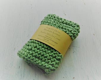 Swiffer wet jet cover, reusable swiffer cover, handmade, knitted swiffer cover, green