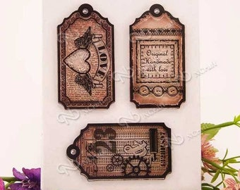 Clear stamps of tags