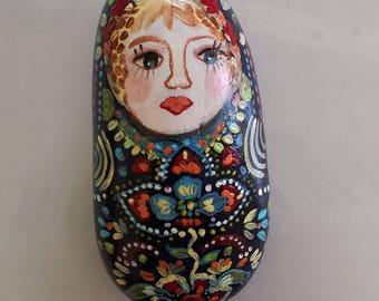 Painted Pebble matriockka